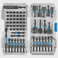 HART 68-Piece Impact Driver Bit Set with Storage Case, Torsion Zone