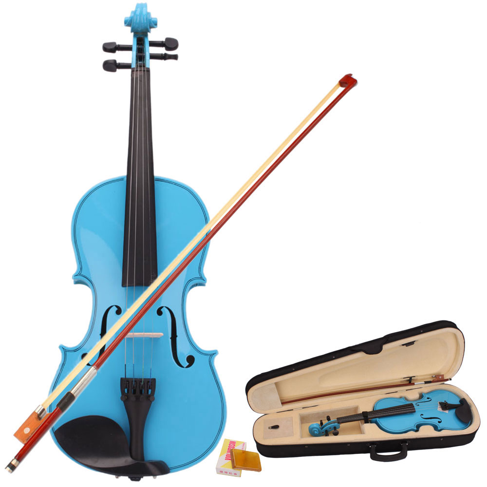 Zimtown 1/8 1/4 1/2 3/4 4/4 Acoustic Student Violin Starter Kit with case, bow and rosin