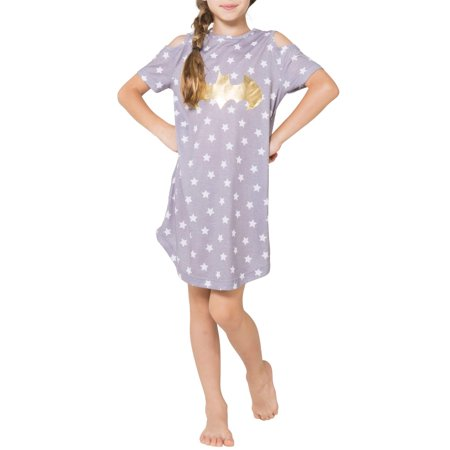 Batgirl Cold Shoulder Pajama Nightgown (Little Girls & Big Girls) - Superhero Nightgown