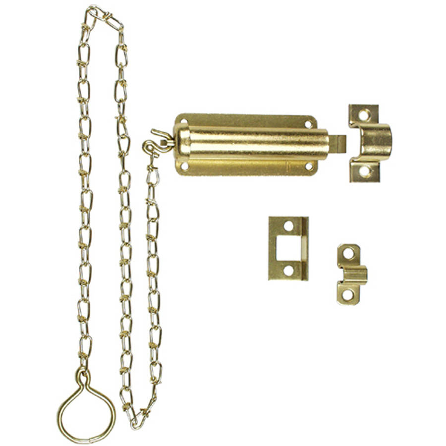 "Stanley Hardware 757029 3"" Zinc Plated Door Bolts with Chain"