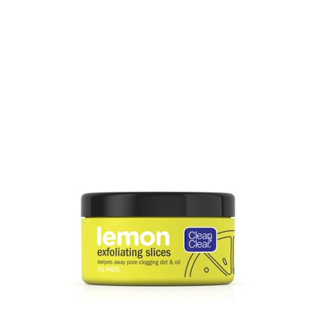 Clean & Clear Lemon Exfoliating Facial Pads with Vitamin C, 45 ct