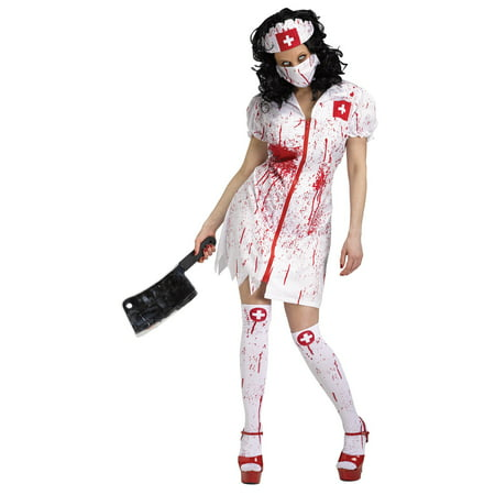 Cursed Nurse Doctor Horror Adult Womens Halloween Costume (Doctor Woman Costume)