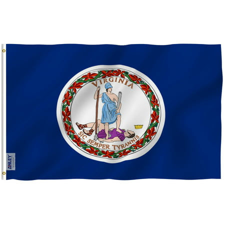 - ANLEY Fly Breeze 3x5 Foot Virginia State Polyester Flag - Vivid Color and UV Fade Resistant - Canvas Header and Double Stitched - Virginia VA State Flags with Brass Grommets 3 X 5 Ft