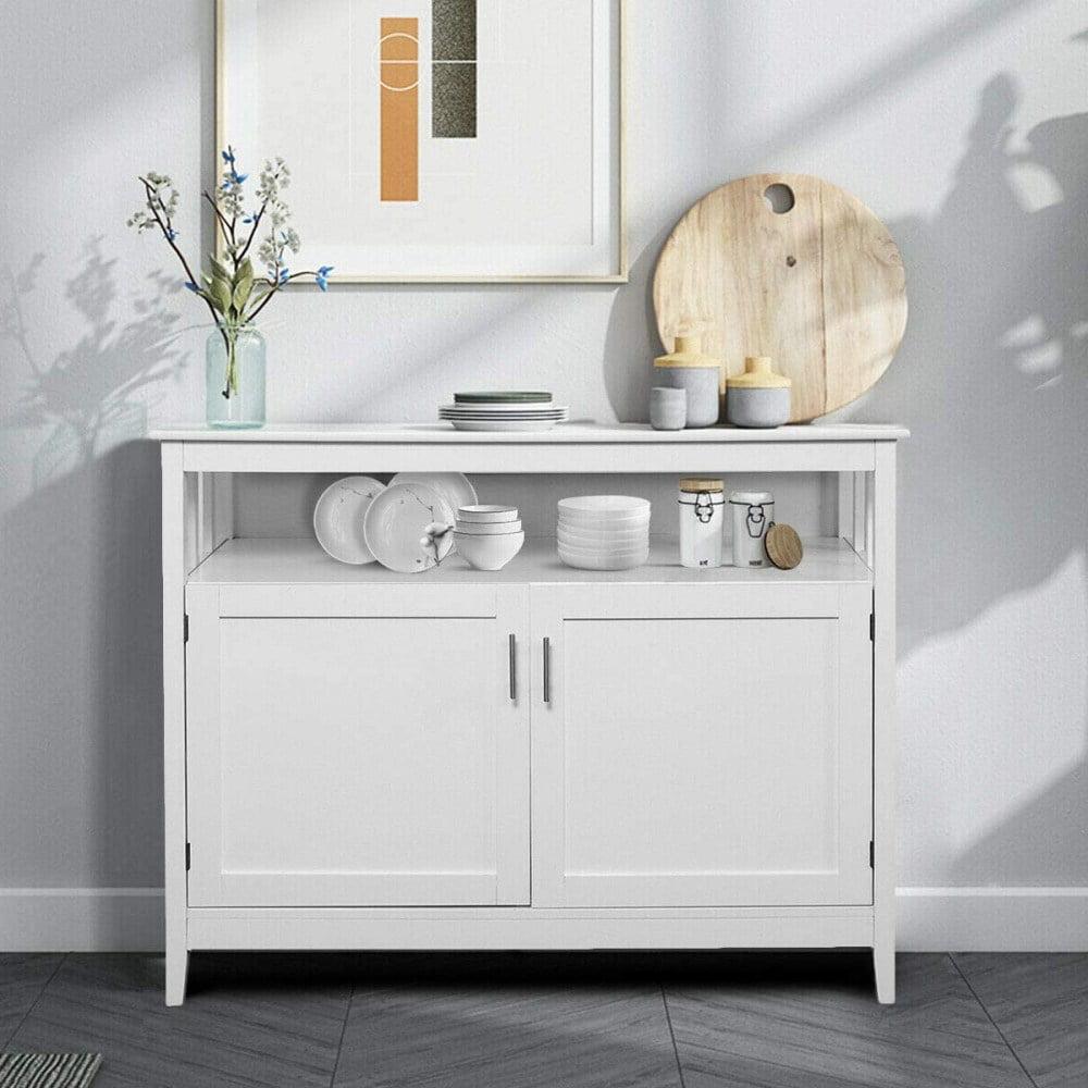 Ktaxon Kitchen Storage Sideboard Dining, White Dining Room Storage Cabinet