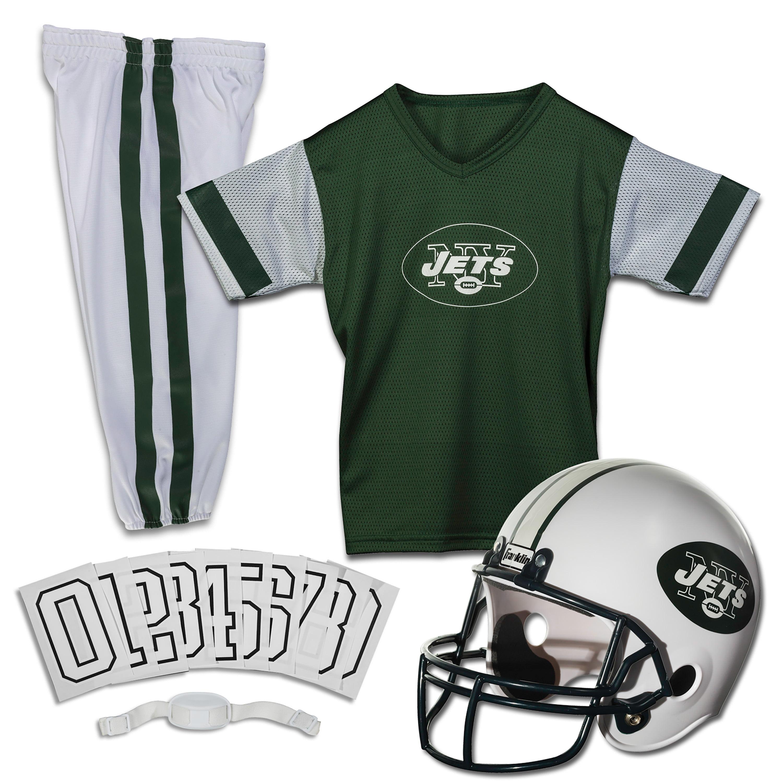 Details about New York Jets Uniform Set Youth NFL Football Jersey Helmet Costume Medium