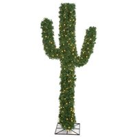 5.5 ft. PVC Holiday Cactus Trees, Green