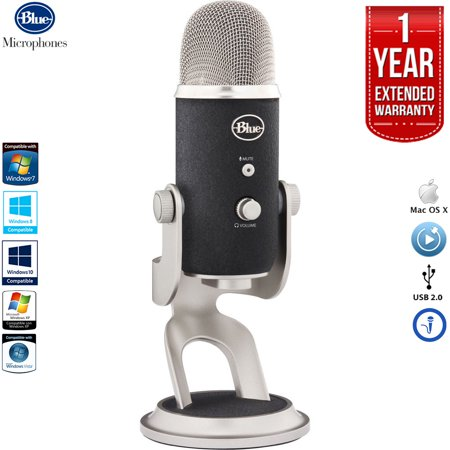 Blue Microphones Yeti Pro USB Condenser Microphone, Multipattern with 1 Year Extended