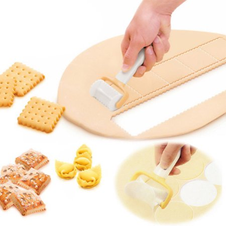 Rolling Cookie Cutters Dough Cutter Roller Slice Biscuit Cutting Blader