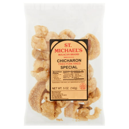 St  Michael's Bulacan Brand Special Fried Pork Rinds Chicharon, 5 oz