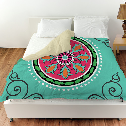 Manual Woodworkers & Weavers Boho Medallion Square Duvet Cover