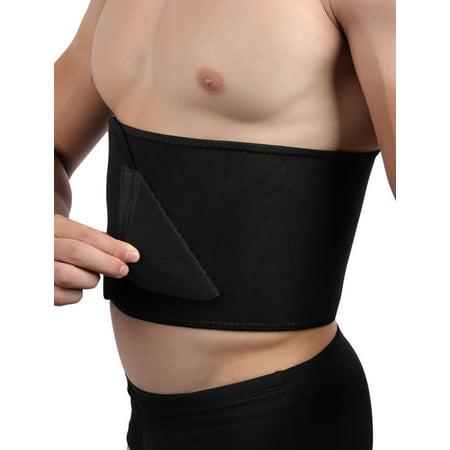 6647809834e Black Waist Trimmer Slimming Tummy Belt Burn Fat Sweat Weight Loss Body  Shaper - image 1 ...