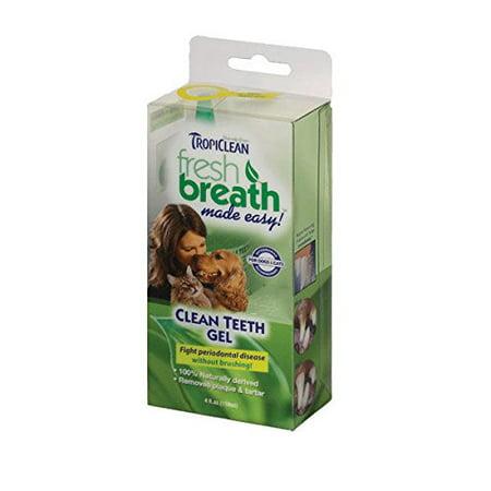 TropiClean Clean Teeth Gel For Dogs Promotes Strong Teeth & Healthy Gums 4 oz(1