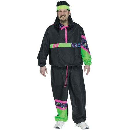 80s Male Track Suit Plus Size Costume](80s Costume Plus Size)