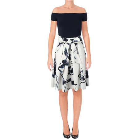 Lauren Ralph Lauren Womens Fit & Flare Above Knee Special Occasion - Special Occasion Dresses For Tweens