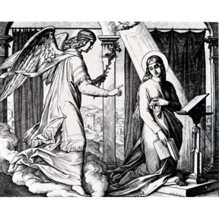 Posterazzi SAL995442 The Annunciation by Julius Schnorr Von Carolsfeld Engraving 1794-1872 Poster Print - 18 x 24 in. - image 1 of 1