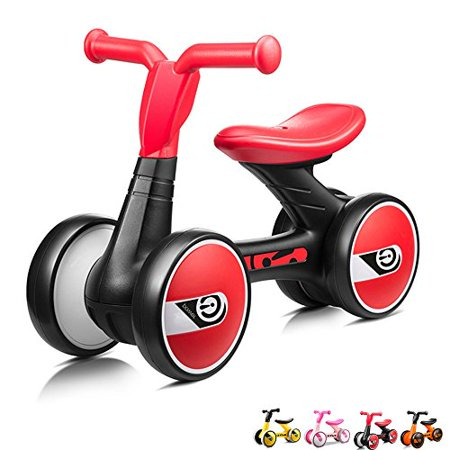 Xjd Toddler Trike Baby Balance Bike 4 Wheels No Pedal Infant