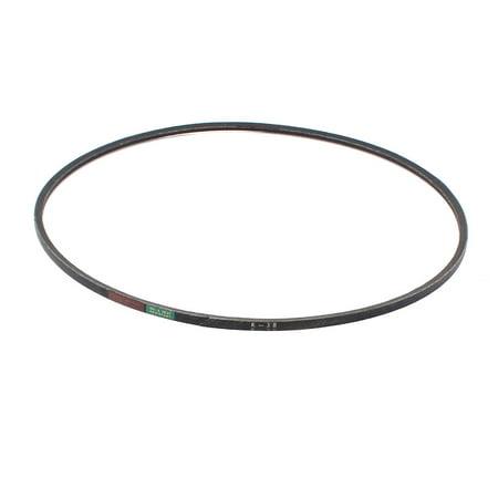 Unique Bargains Industrial Machine Transmission Rubber V Belt 3/8