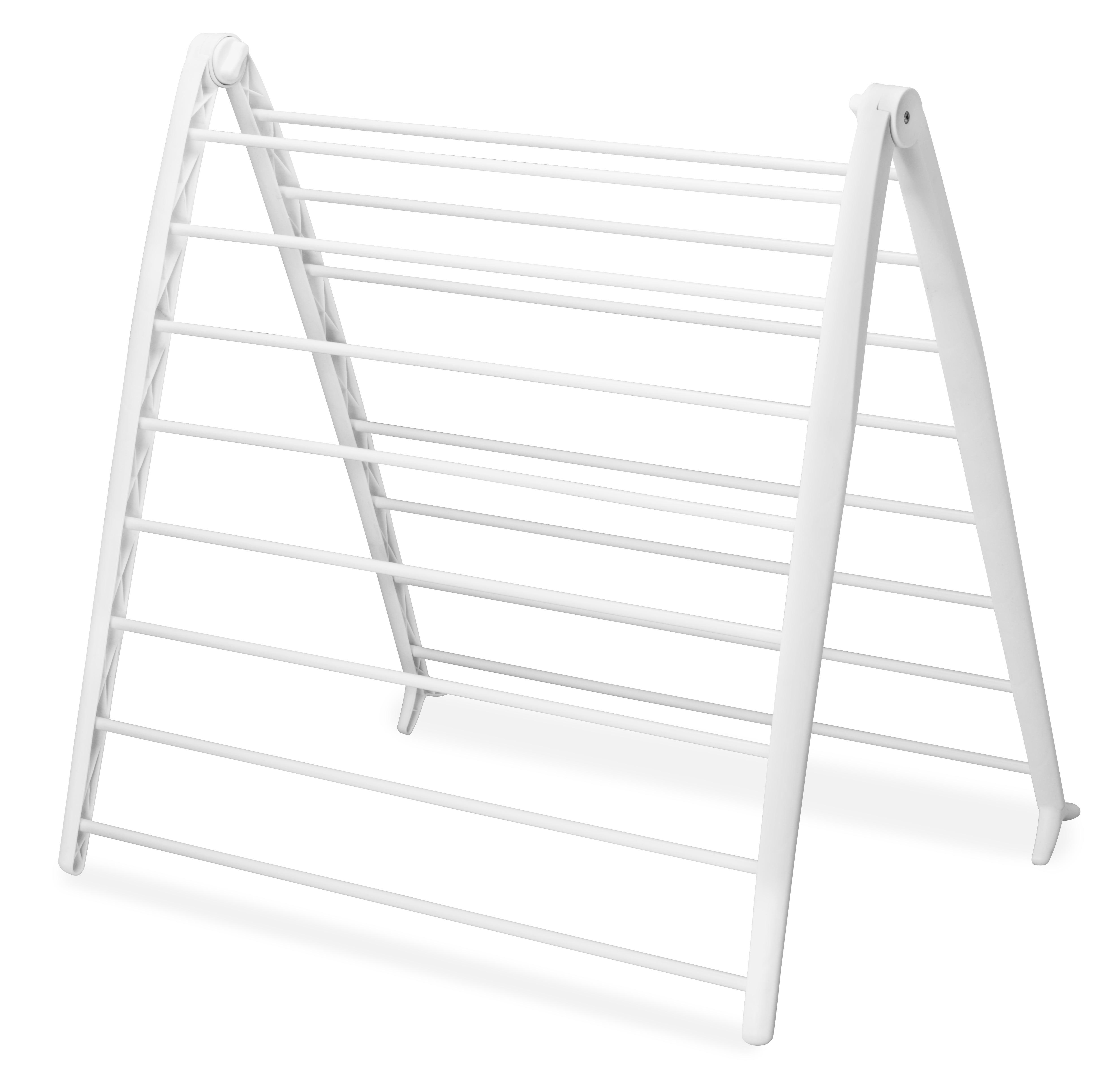 mainstays space saving folding drying rack white walmart com walmart com