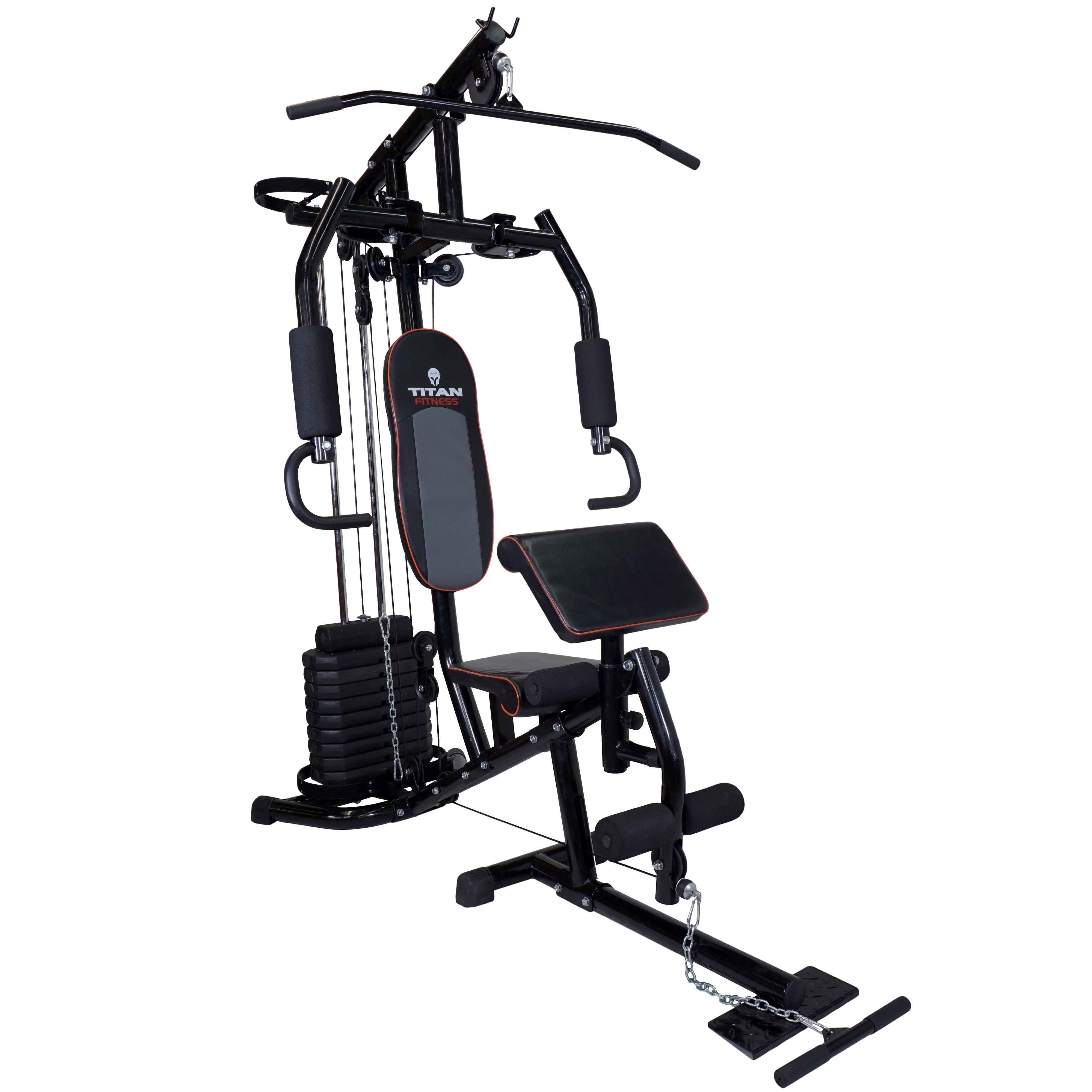 Titan 150 lb Stack Home Gym Total Fitness Strength Equipm...