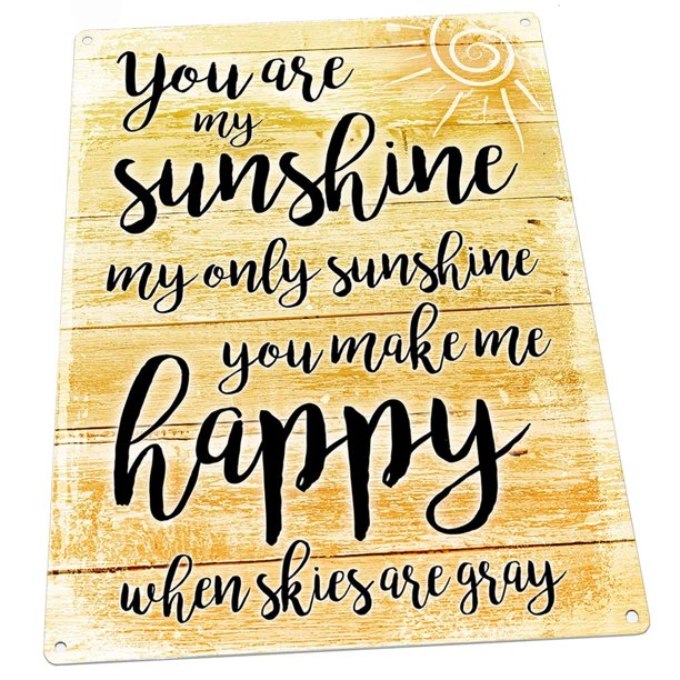 You Are My Sunshine 9 X12 Metal Sign Wall Decor For Kitchen And Dinning Room Walmart Com Walmart Com