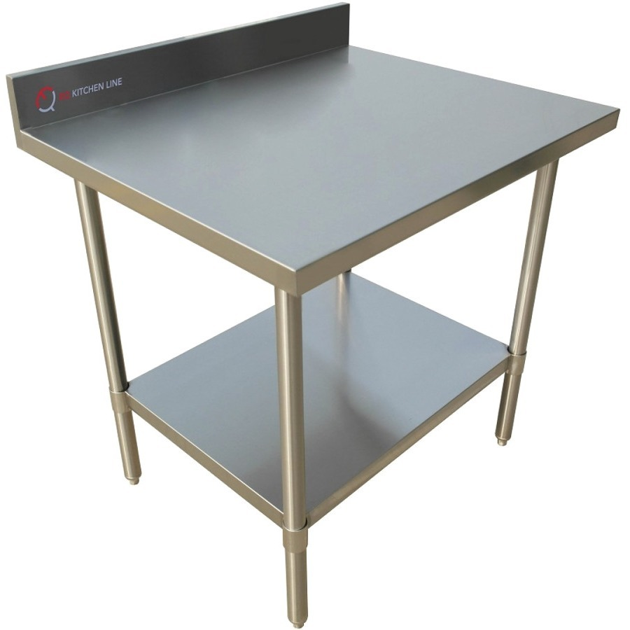 """EQ Kitchen Line Heavy Duty Silver Kitchen Restaurant Work Prepare Surfase Table 30""""Lx24""""Wx34""""H"""