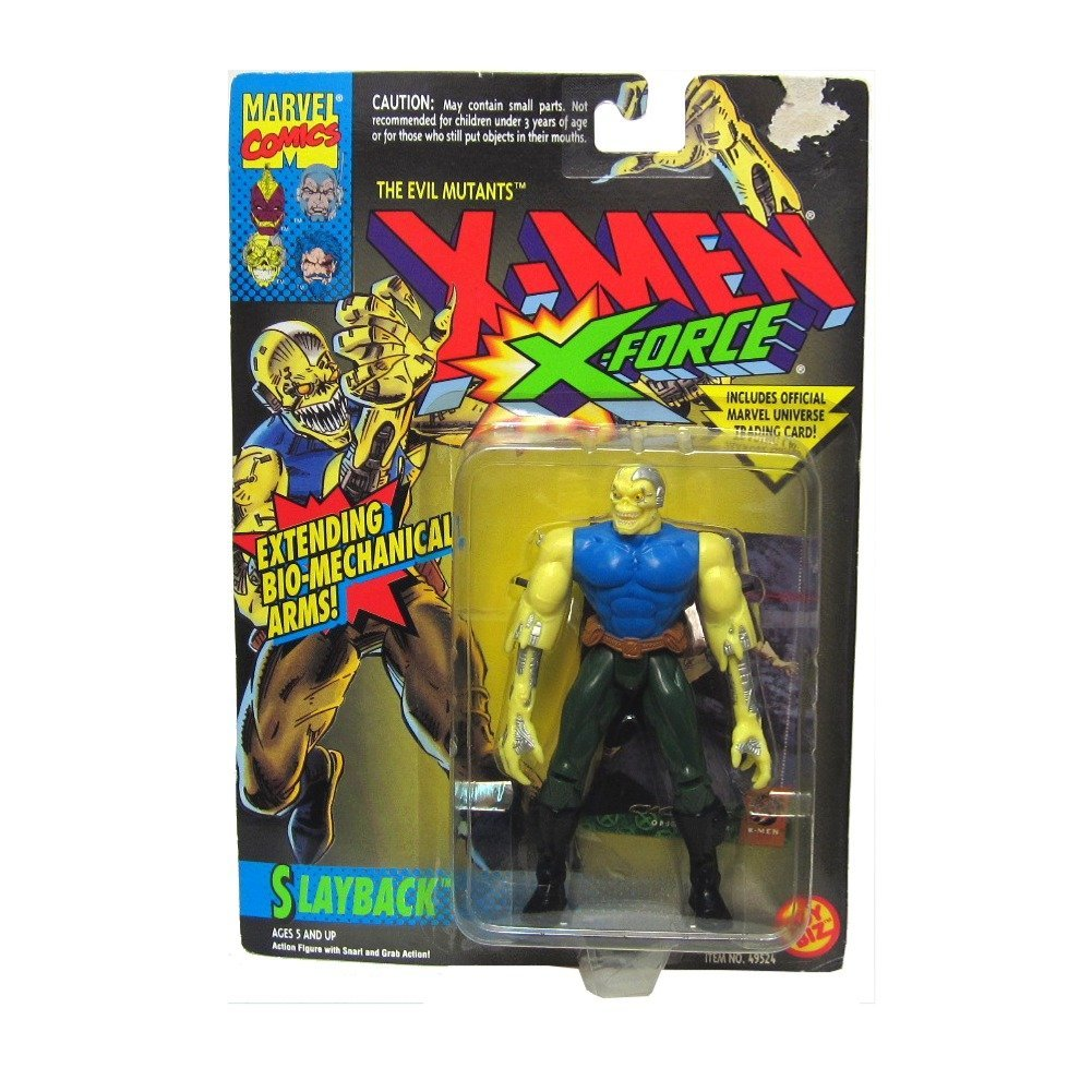 Slayback Action Figure 1994 X-Men X-Force Evil Mutants w  Snarl & Grab Action Toy Biz Marvel Trading Card... by