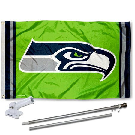 Seattle Seahawks Action Green Flag And Accessory Kit