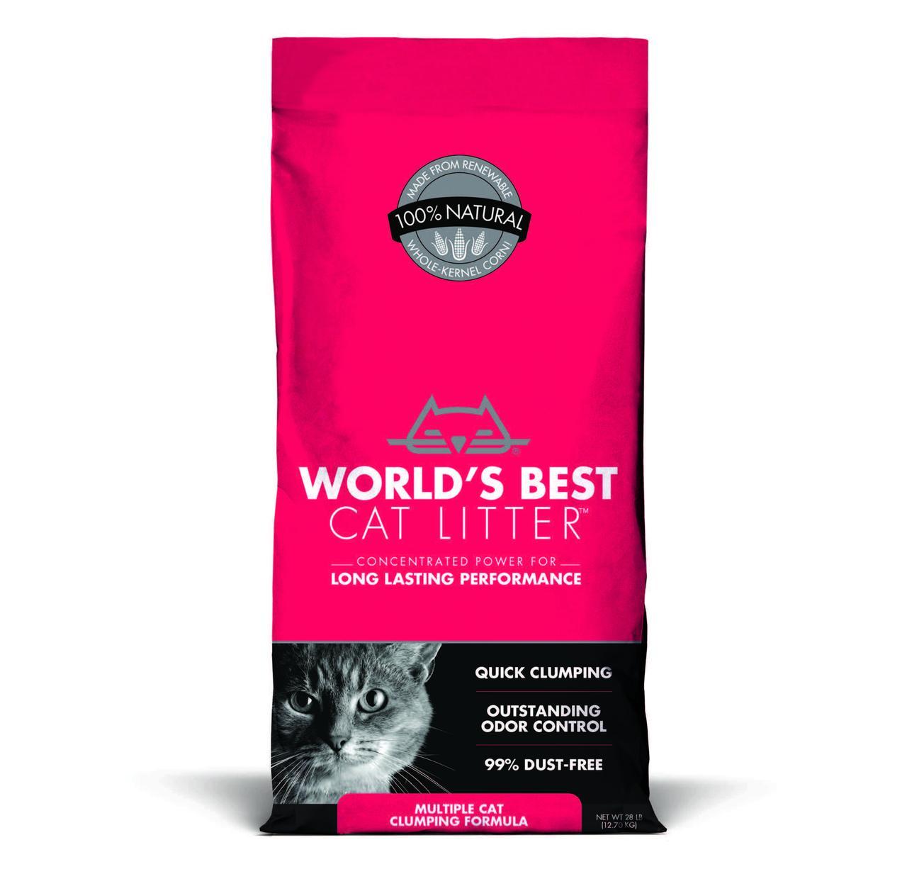 World's Best Cat Litter Multiple Cat Clumping Litter, 28-lb