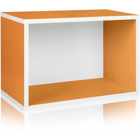 Way Basics Eco Stackable Shelf and Shoe Rack, Orange