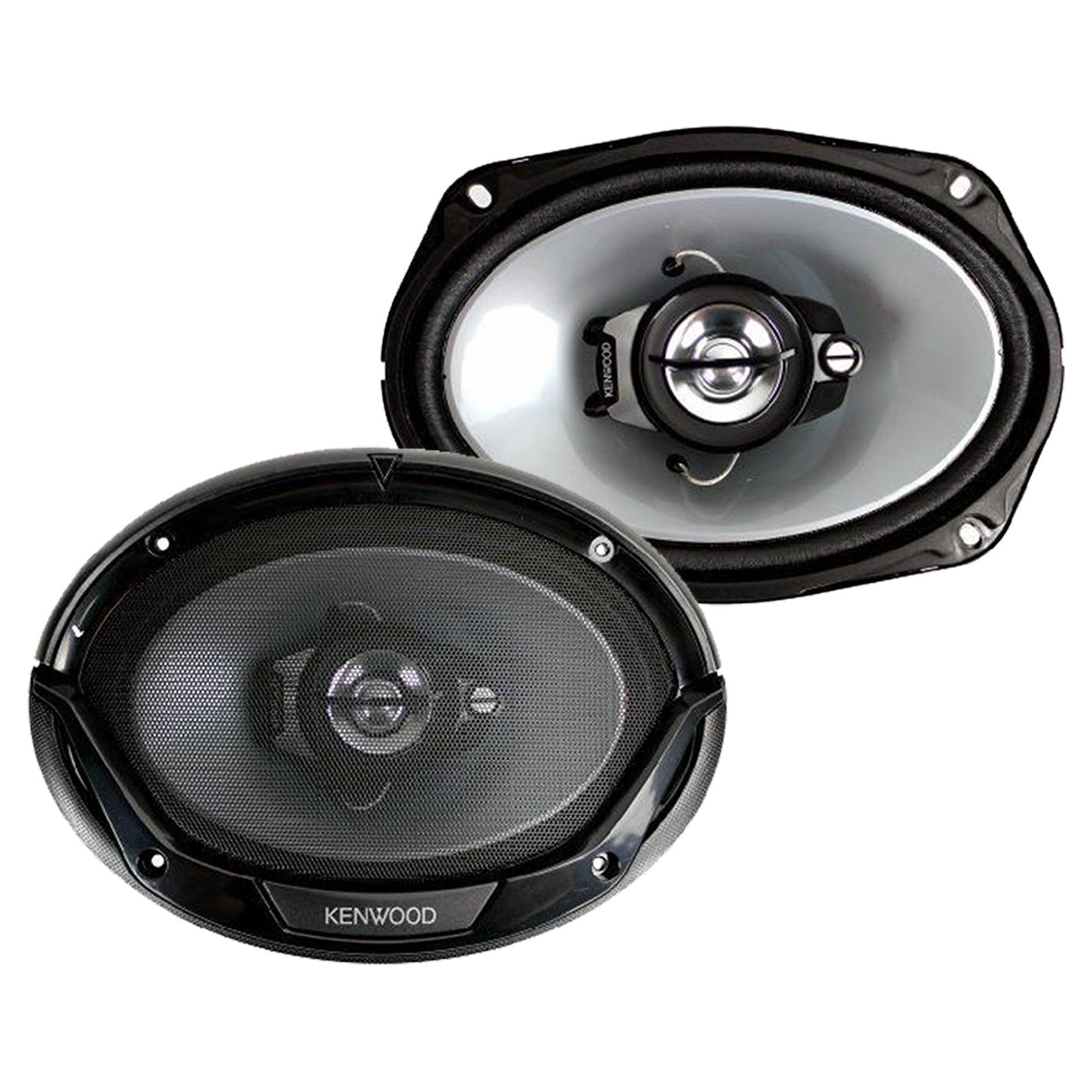 Kenwood KDC168U Car Radio USB AUX CD Player Receiver 2X 6.5-6.75 4-Way Stereo Speaker Bundle with 2X TSA1676R 6.5 3-Way Car Audio Speakers Amp Kit 4-Channel Amplifier