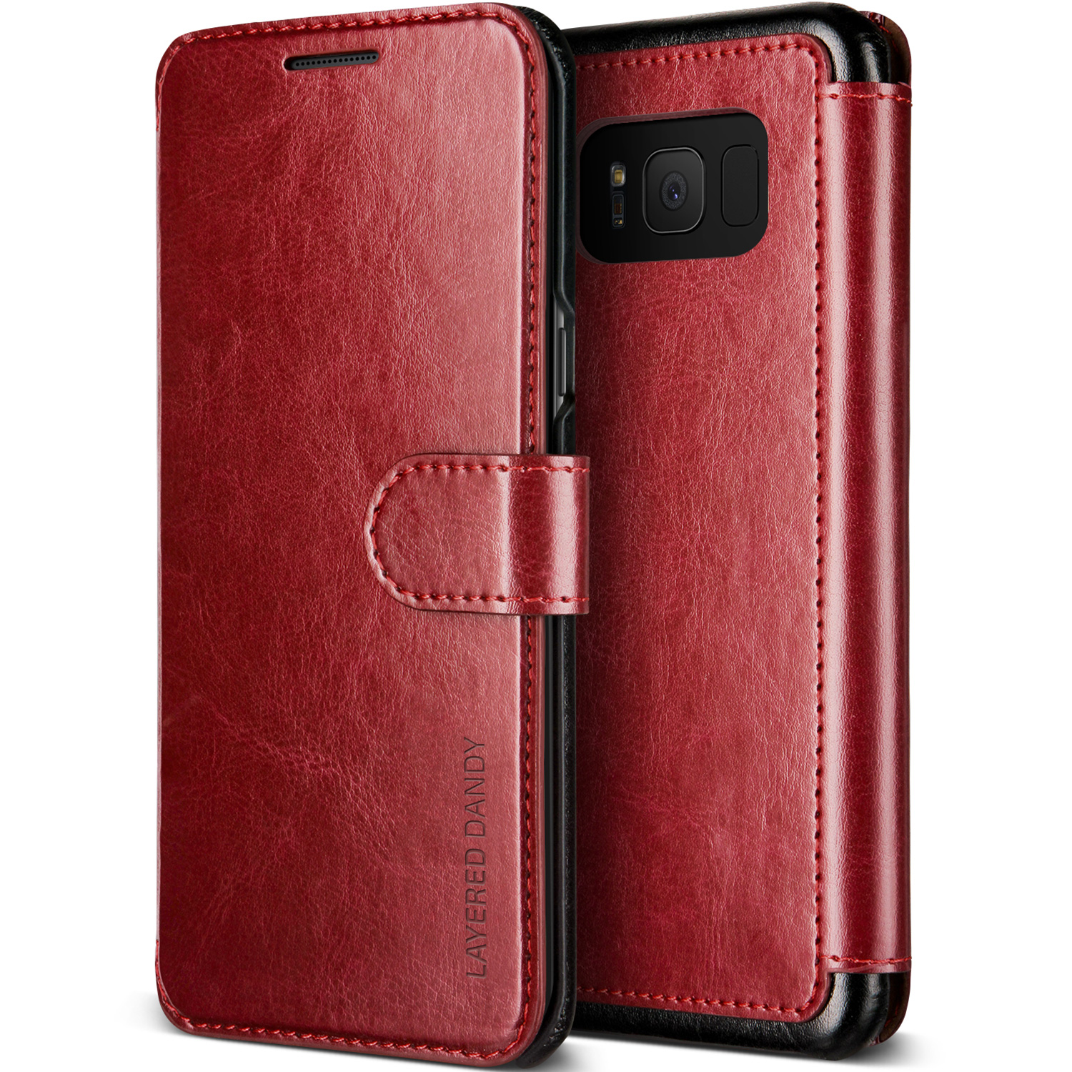 Samsung Galaxy S8 Plus Case Cover   Premium PU Leather Wallet with Card Slots   VRS Design Layered Dandy for Samsung Galaxy S8 Plus