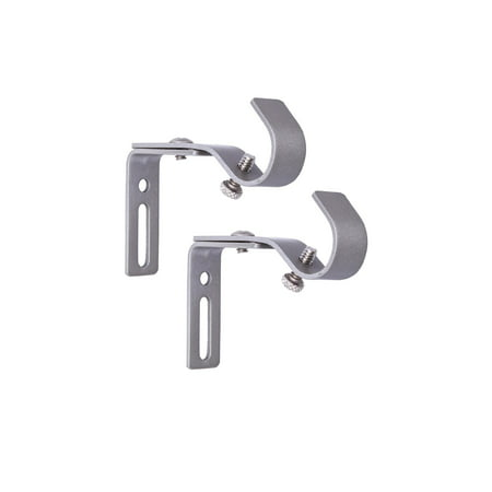 Better Homes & Gardens Adjustable Curtain Rod Bracket Set, 5/8 in. Diameter Curtain Rail Support