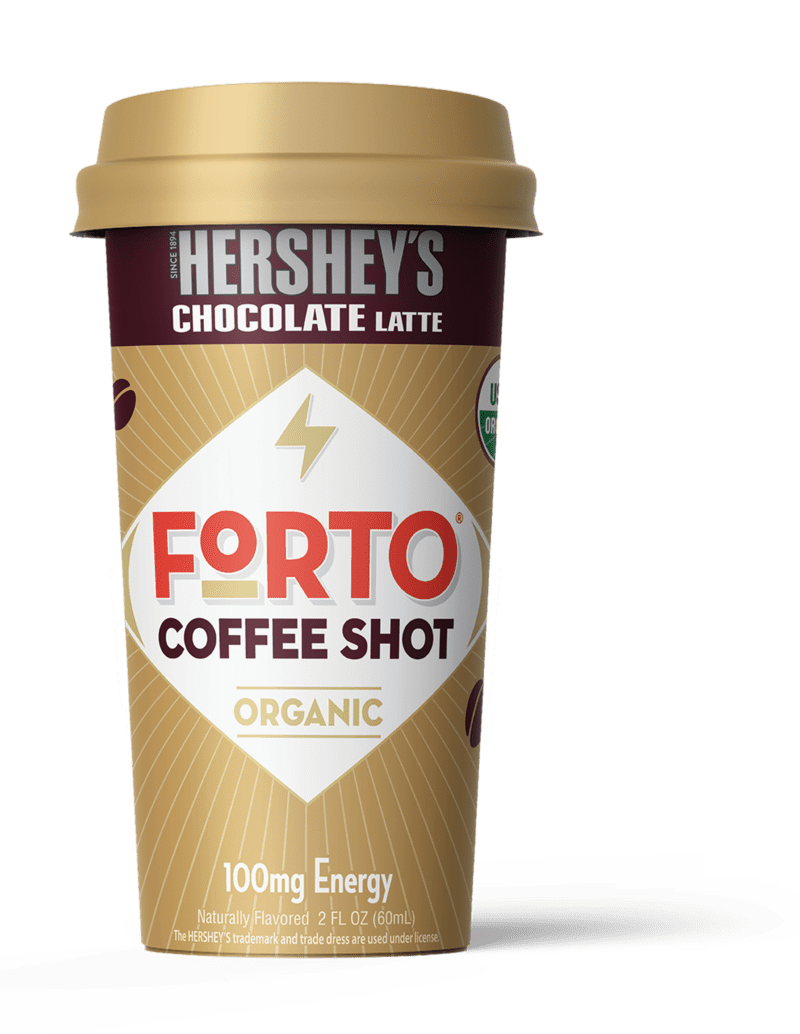 FORTO Coffee Shots: 100mg Energy, Hershey?s Chocolate ? Real Organic Coffee - Ready-to-Drink 2oz Cold Brew Double Shot with Milk, High Caffeine, Instant Natural Energy..