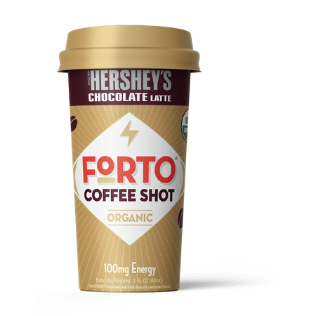 FORTO Coffee Shots: 100mg Energy, Hershey's Chocolate – Real Organic Coffee - Ready-to-Drink 2oz Cold Brew Double Shot with Milk, High Caffeine, Instant Natural (Best Iced Coffee Drinks)