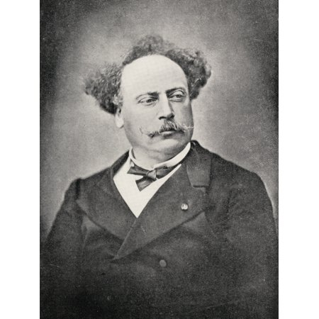 Alexandre Dumas The Younger1824-1895 French Author Son Of Dumas (Pre)From The Book The International Library Of Famous LiteraturePublished In London 1900 Volume Xviii Canvas Art - Ken Welsh Design
