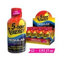 5-hour ENERGY Shot, Regular Strength, Pink Lemonade, 1.93 oz, 12 count