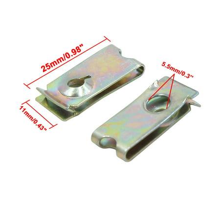 4pc vis métal Auto Fixation Capot Pare-Choc Fixation Clip Rivet Aile - image 1 de 3