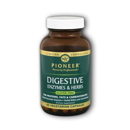 Digestif complexe enzymatique, Veg sans gluten Pioneer (Verified Gluten Free) 60 vcaps