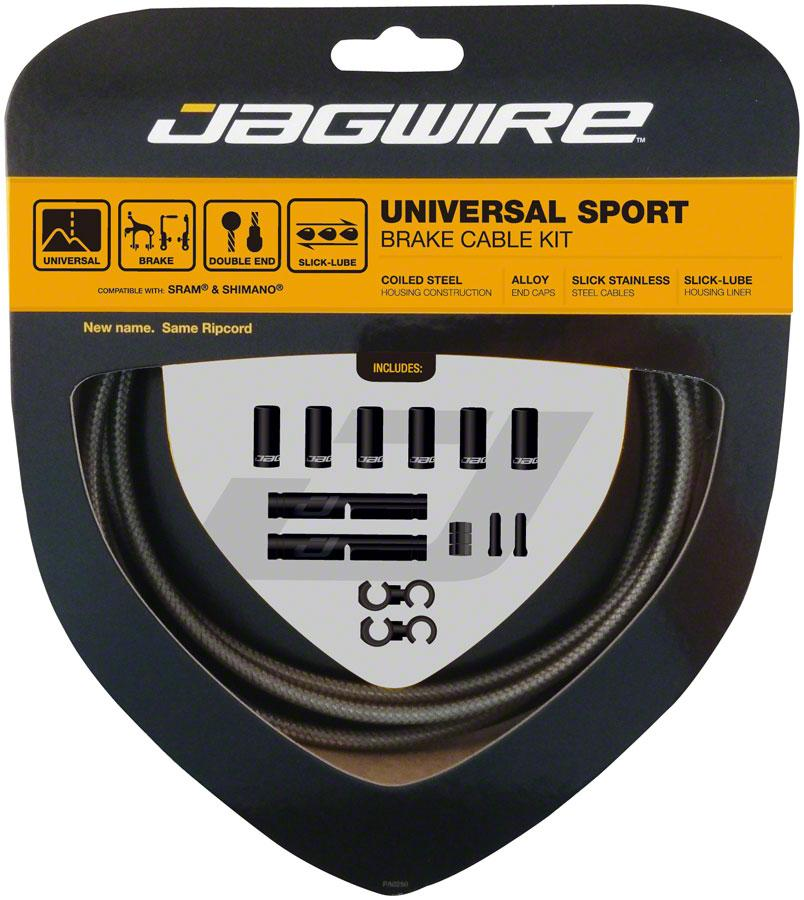 Jagwire Universal Sport Brake Cable Kit fits SRAM/Shimano and Campagnolo, Carbon Silver