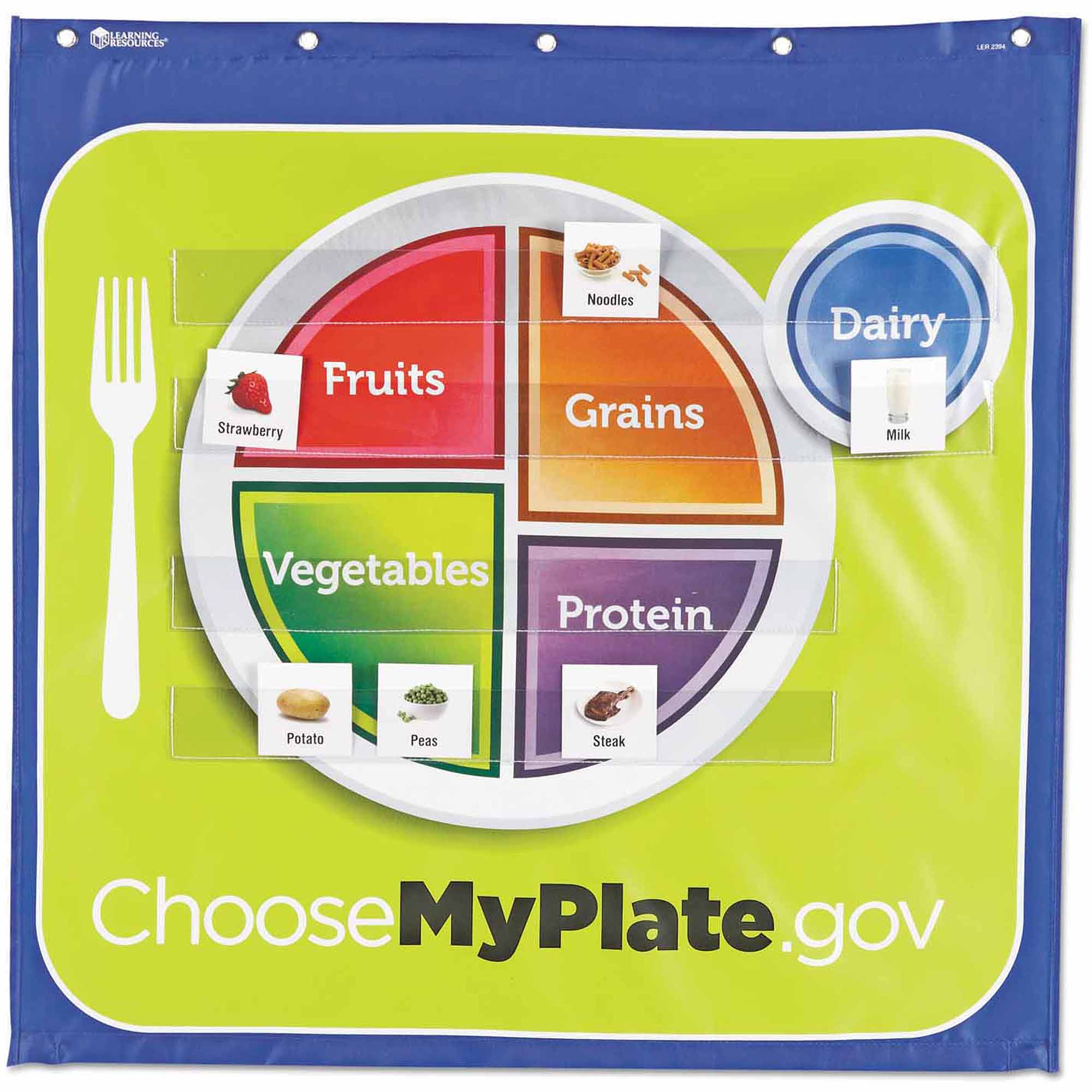 Learning Resources Healthy Helpings - My Plate Pocket Chart