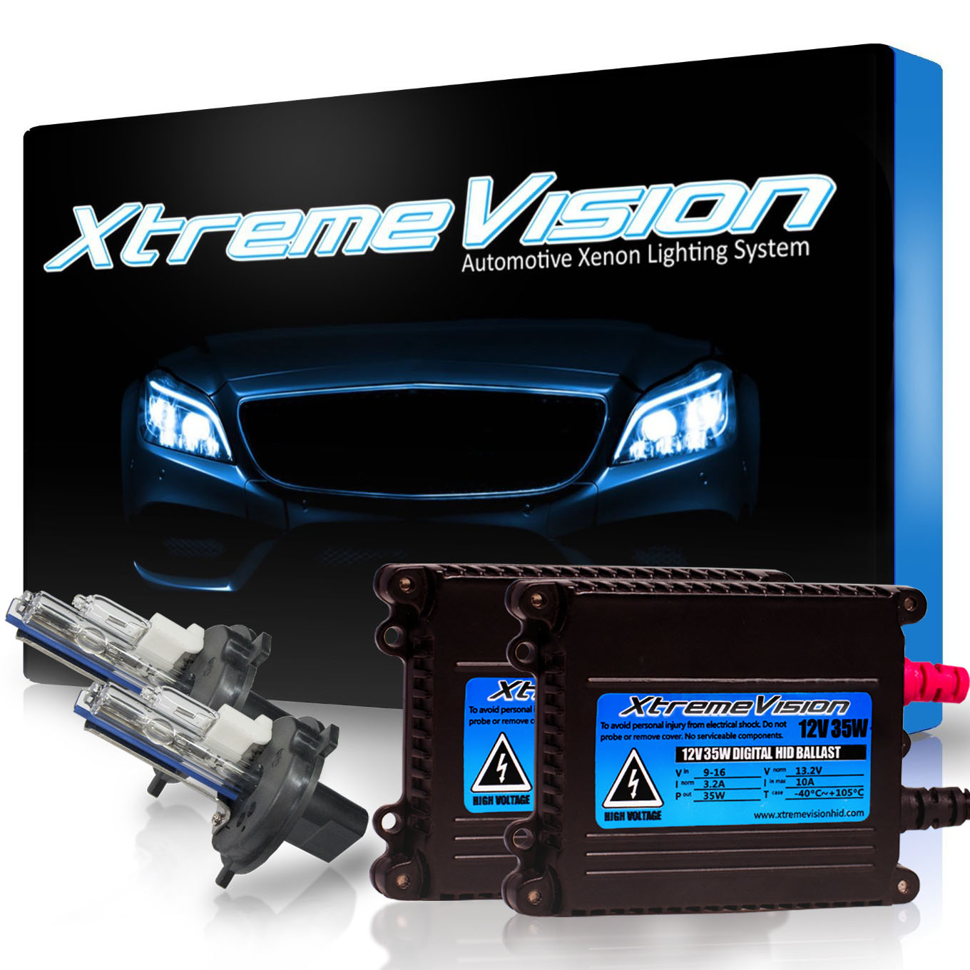 XtremeVision 35W HID Xenon Conversion Kit with Premium Slim Ballast - H4 / 9003 30000K - Deep Blue - 2 Year Warranty