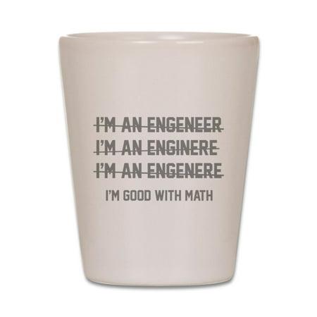 CafePress - I'm Good With Math - White Shot Glass, Unique and Funny Shot Glass](Funny Shot Glasses)