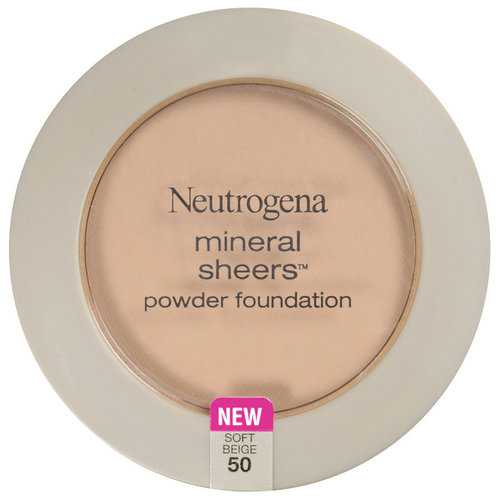 Neutrogena Mineral Sheers Compact Powder Foundation SPF 20, Soft Beige 50, 0.34 oz
