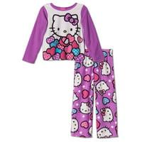Little Girls' Fleece 2-Piece Pajama Set, 2T-4T, Hello Kitty, Size: 3T