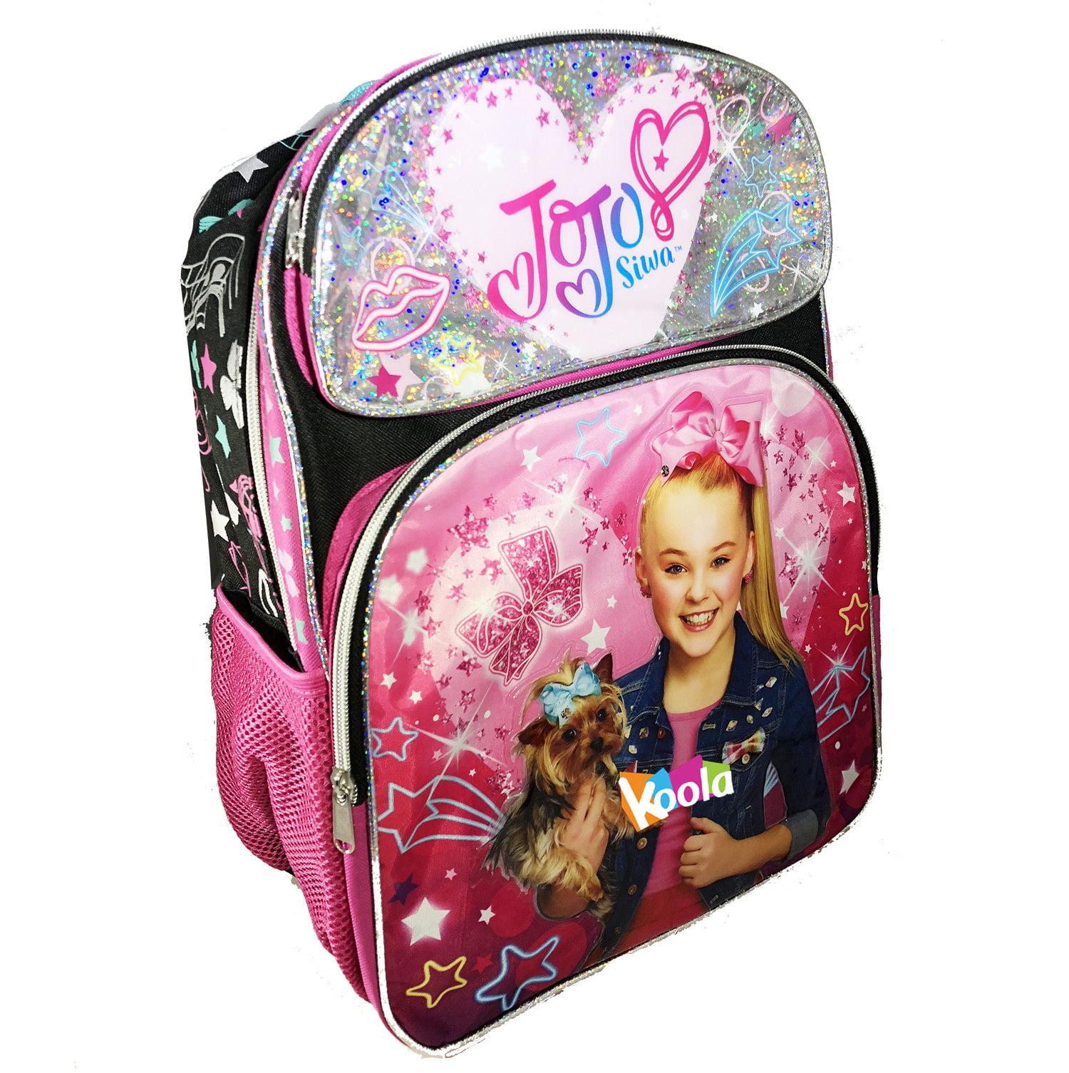 "JoJo Siwa Dream Star Crazy Big Girls Backpack School Bag Bookbag Bow Deluxe 16/"""