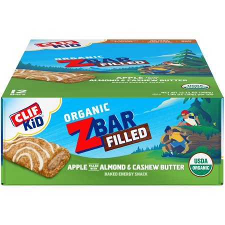 CLIF Kid ZBar Filled, Apple Almond Butter, 12 Ct