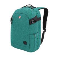 "SwissGear SA3555 18.5"" Green Hybrid Laptop Backpack"