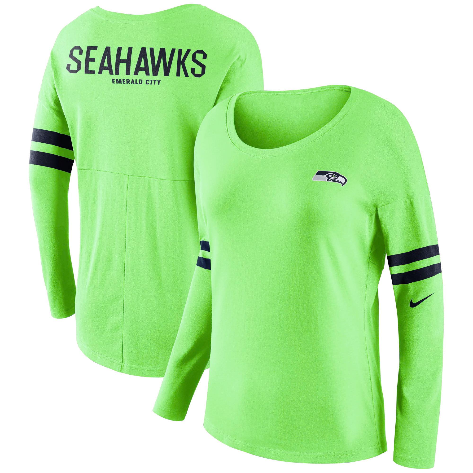 seahawks green long sleeve shirt