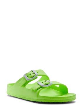 Wonder Nation Basic Footbed Buckle Sandal (Little Girls & Big Girls)