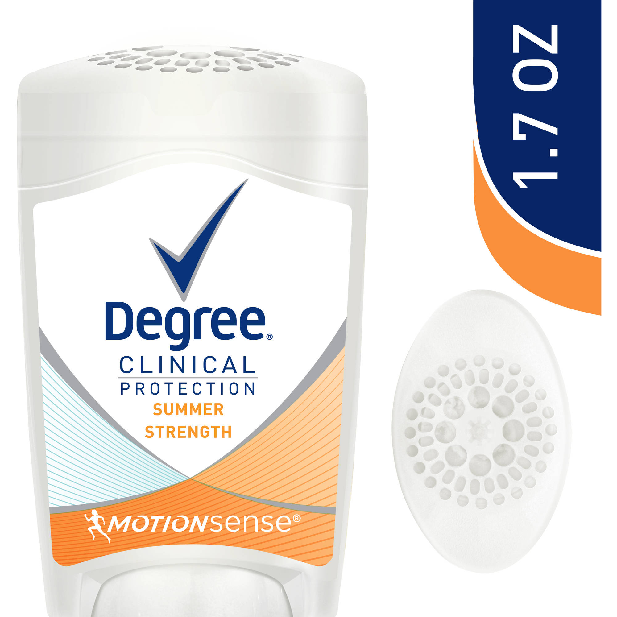 Degree Clinical Protection Summer Strength Antiperspirant Deodorant, 1.7 oz